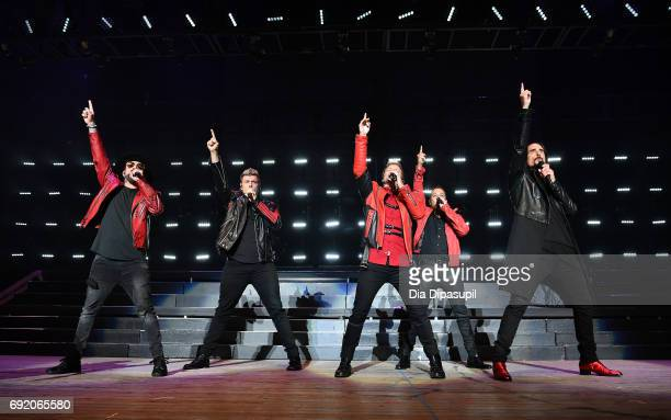 Backstreet Boys perform onstage during 1035 KTU's KTUphoria 2017 presented by ATT at Northwell Health at Jones Beach Theater on June 3 2017 in...