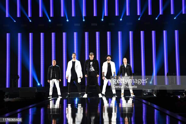 Backstreet Boys perform onstage during the 2019 iHeartRadio Music Festival at T-Mobile Arena on September 20, 2019 in Las Vegas, Nevada.