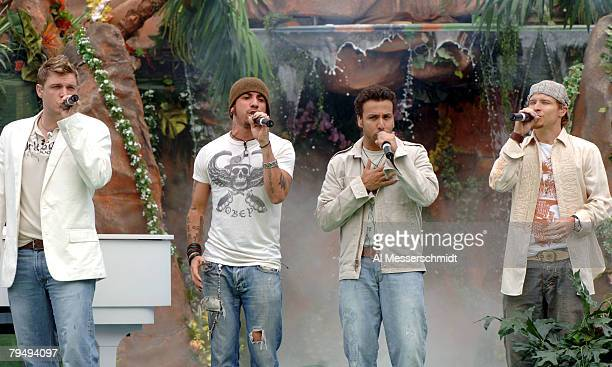 Backstreet Boys performs with the Backstreet Boys during halftime of the NFL Pro Bowl at Aloha Stadium in Honolulu Hawaii on Sunday February 12 2006