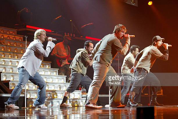 Backstreet Boys play Rod Laver Arena. 2nd Feb 2006 THE AGE Picture by ANDREW DE LA RUE
