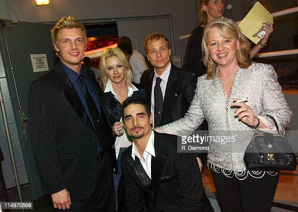 Backstreet Boys with Shelby Lynne during 2005 MusiCares Person of the Year Brian Wilson Backstage and Audience at Palladium in Hollywood California...