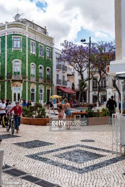 backstreets of lagos, algarve, portugal - algarve imagens e fotografias de stock