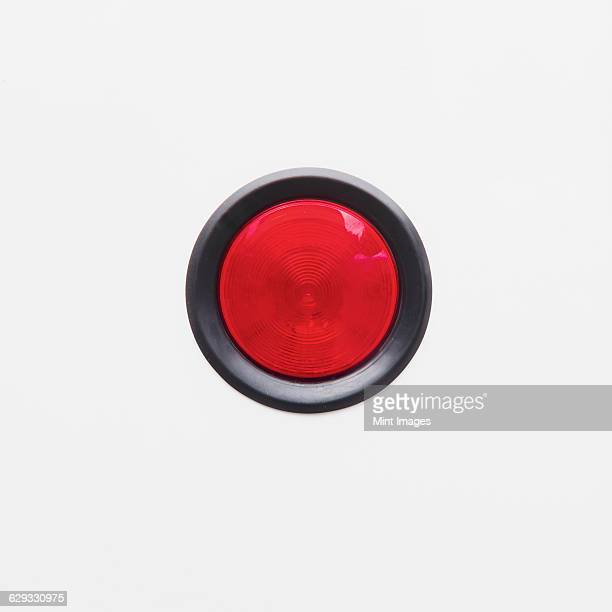 a backup brake light on a white background, on a truck. - vehicle light stock photos and pictures