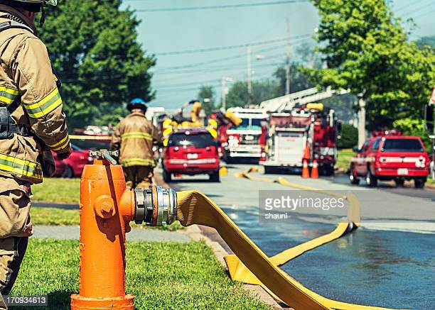 backup fire hydrant - fire hydrant stock pictures, royalty-free photos & images