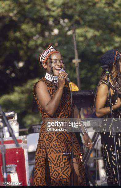July 8: Backup singer for Papa Wemba performing at the Central Park Summerstage Concert Series on July 8th, 1995in New York City.