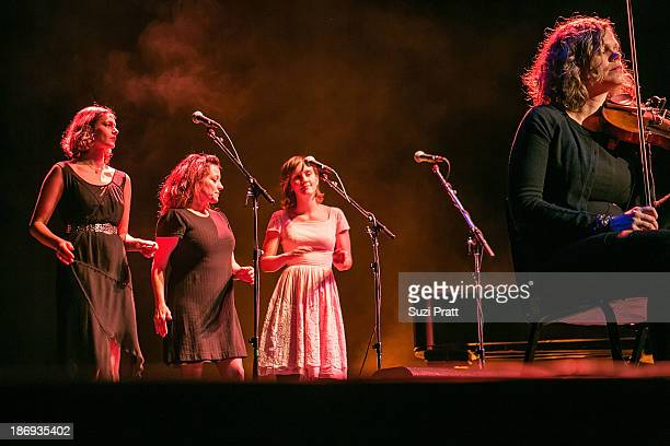 Backup singers for Iron and Wine perform at Paramount Theatre on November 4 2013 in Seattle Washington