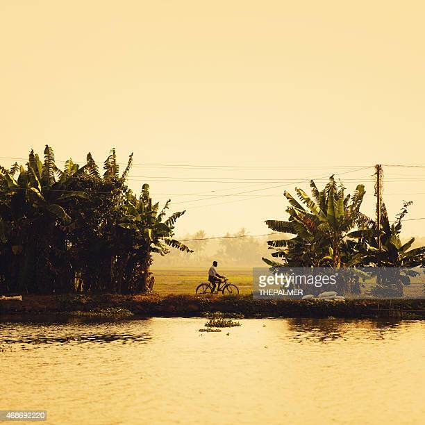 backwaters of kerala - south stock photos and pictures