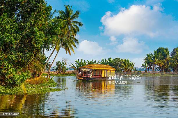 backwaters of kerala - houseboat stock pictures, royalty-free photos & images