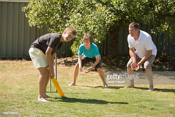 backyard cricket - batting stock pictures, royalty-free photos & images