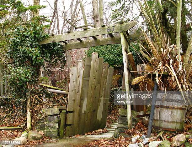 Backyard Entry Cottage  Clutter