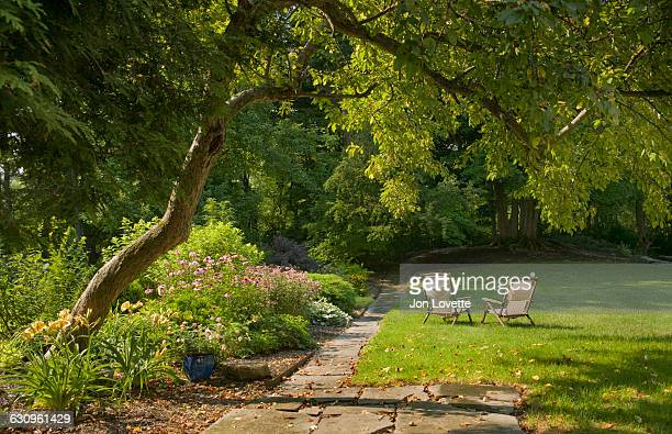 backyard garden - domestic garden stock pictures, royalty-free photos & images
