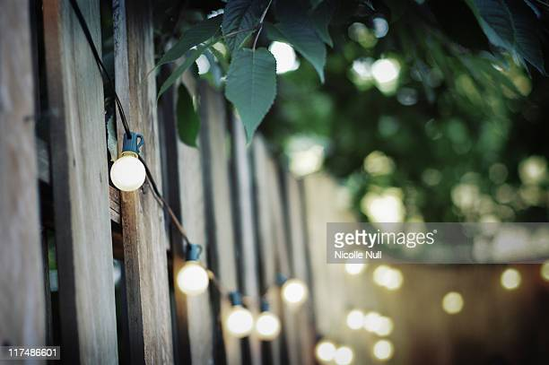 backyard lights - courtyard stock pictures, royalty-free photos & images
