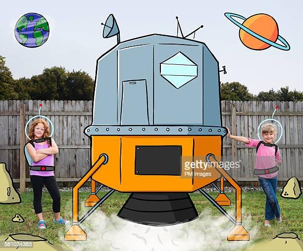 backyard lunar craft - mixed media stock pictures, royalty-free photos & images
