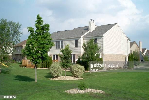 Backyard of a suburban house