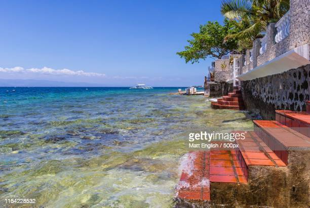 backyard steps - cebu stock photos and pictures