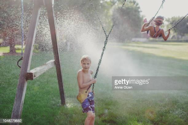 Backyard Summer Children