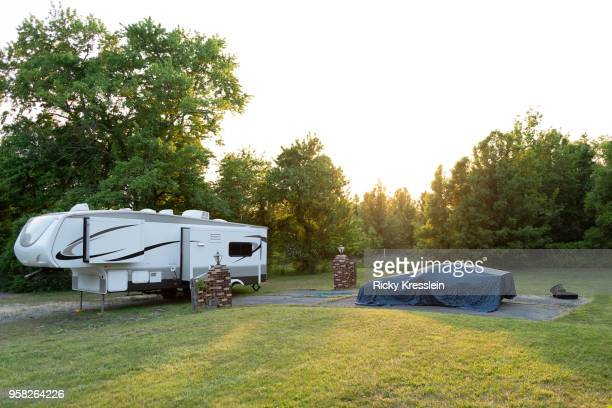 Backyard With RV & Covered Car