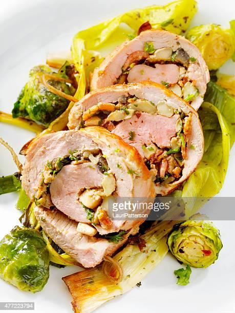 Bacon e Cogumelo Recheado Filete de Lombo de Porco