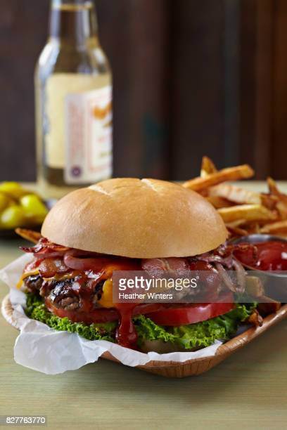 Bacon Cheese Burger with BBQ Sauce