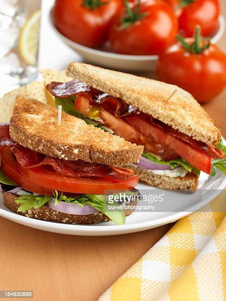 BLT, Bacon Lettuce Tomato Sandwich