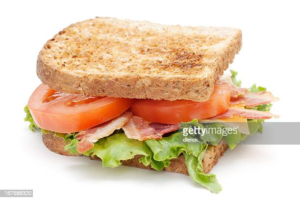 bacon lettuce tomato sandwich with cheese