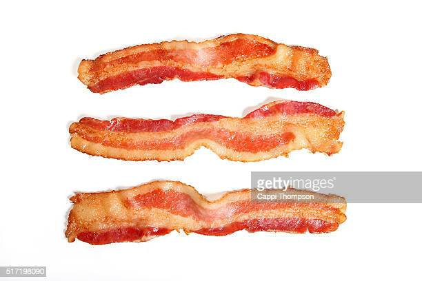 Bacon over a white background