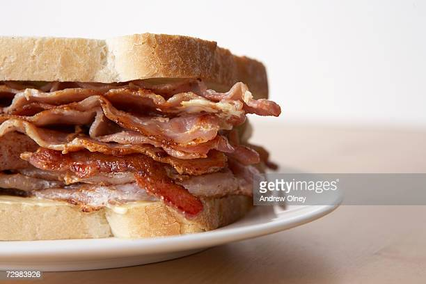 Bacon sandwich, close-up