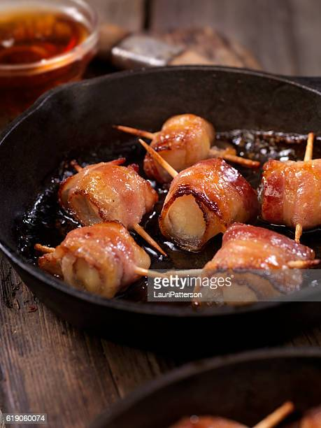 Bacon Wrapped Scallops in a Maple Glaze