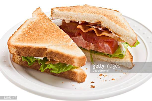 BLT, Bacon,Lettuce And Tomato Sandwich On Toast