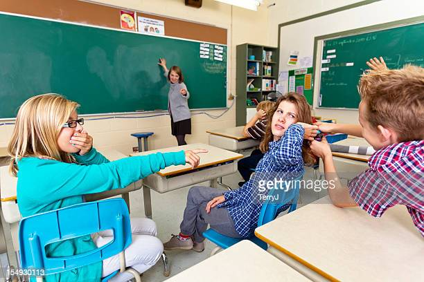 bad behavior - nasty little girls stock photos and pictures