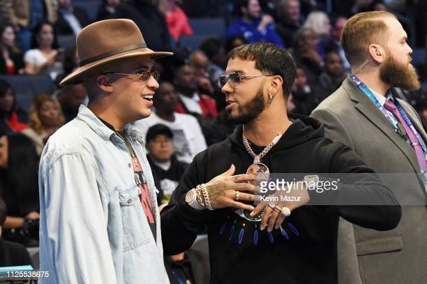 Bad Bunny and Anuel AA attend the 68th NBA AllStar Game at Spectrum Center on February 17 2019 in Charlotte North Carolina