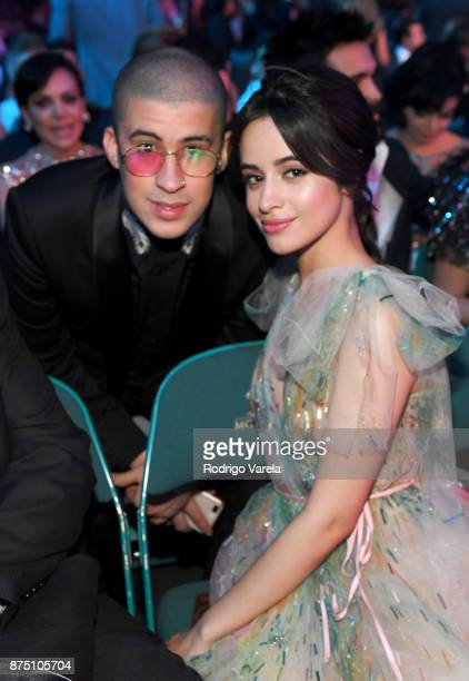 Bad Bunny and Camila Cabello attend The 18th Annual Latin Grammy Awards at MGM Grand Garden Arena on November 16 2017 in Las Vegas Nevada