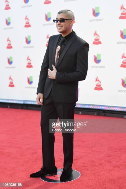 Bad Bunny attends the 19th annual Latin GRAMMY Awards at MGM Grand Garden Arena on November 15 2018 in Las Vegas Nevada