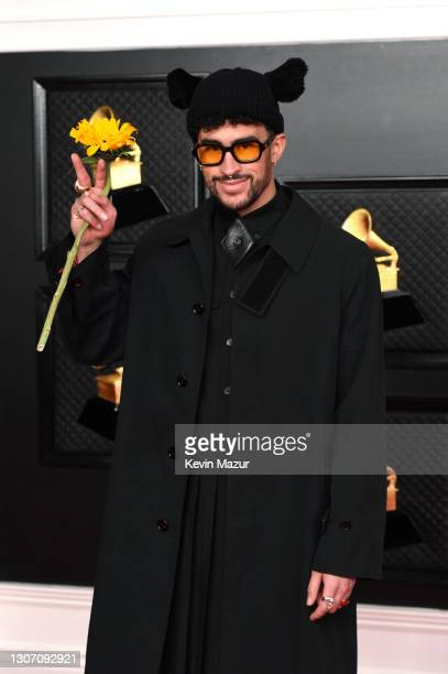Bad Bunny attends the 63rd Annual GRAMMY Awards at Los Angeles Convention Center on March 14, 2021 in Los Angeles, California.