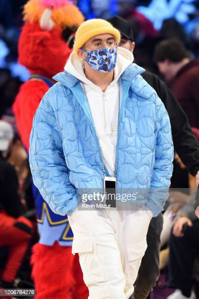Bad Bunny attends the 69th NBA AllStar Game at United Center on February 16 2020 in Chicago Illinois
