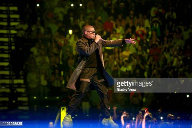 Bad Bunny performs as part of X100PRE Tour at Coliseo Jose M Agrelot on March 8 2019 in San Juan Puerto Rico