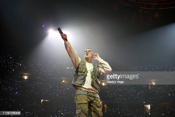Bad Bunny performs as part of X100Pre Tour at Coliseo Jose M Agrelot on March 10 2019 in San Juan Puerto Rico
