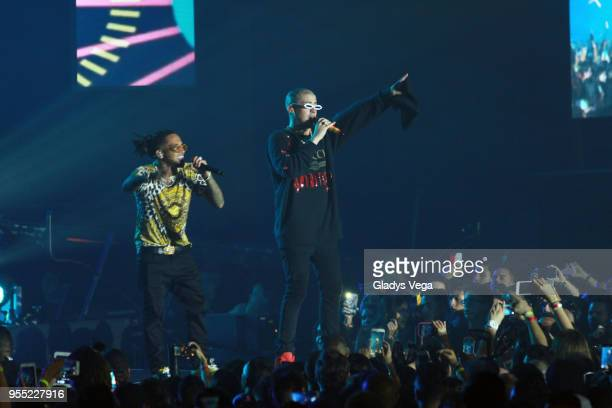 Bad Bunny performs at San Juan Convention Center on May 5 2018 in San Juan Puerto Rico