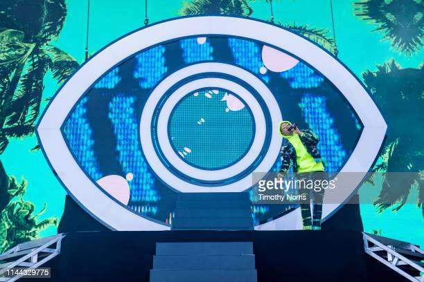 Bad Bunny performs during the 2019 Coachella Valley Music And Arts Festival on April 21 2019 in Indio California