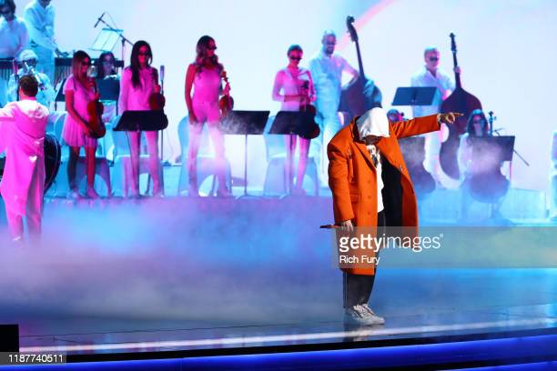 Bad Bunny performs onstage during the 20th annual Latin GRAMMY Awards at MGM Grand Garden Arena on November 14 2019 in Las Vegas Nevada