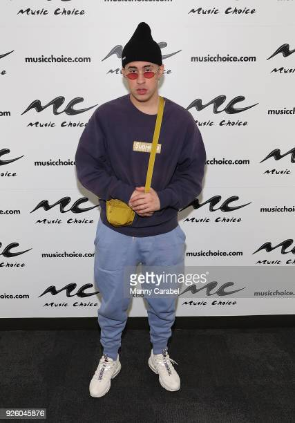 Bad Bunny visits Music Choice at Music Choice on March 1 2018 in New York City