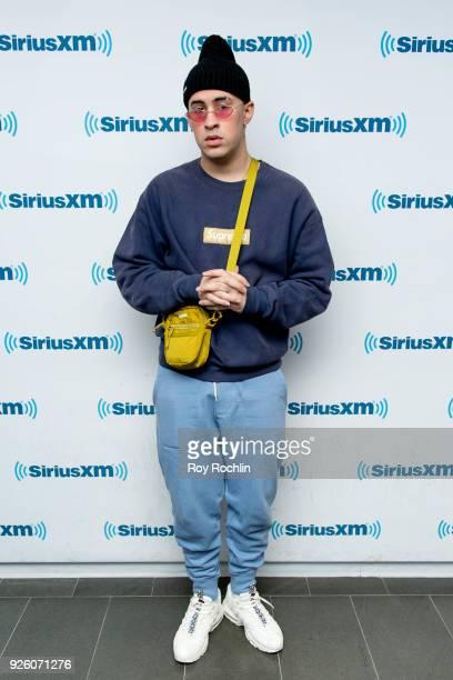 Bad Bunny visits SiriusXM at SiriusXM Studios on March 1 2018 in New York City