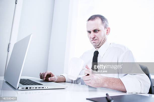 bad coffee at the office - afkeer stockfoto's en -beelden
