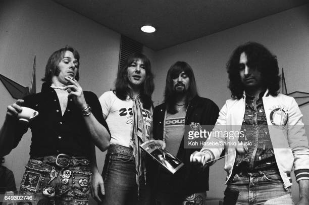 Bad Company being interviewed by Music Life magazine at a hotel March 1975