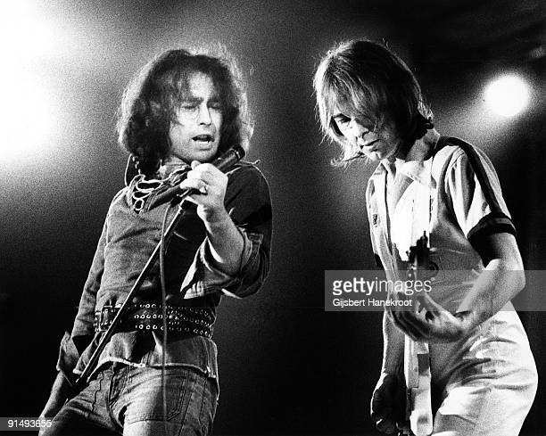 Bad Company perform live on stage in Amsterdam Holland in 1975 LR Paul Rodgers Mick Ralphs