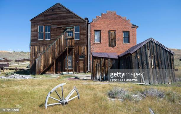 Bad condition building at Bodie State Historic Park, Gold Mining Ghost Town, California, USA