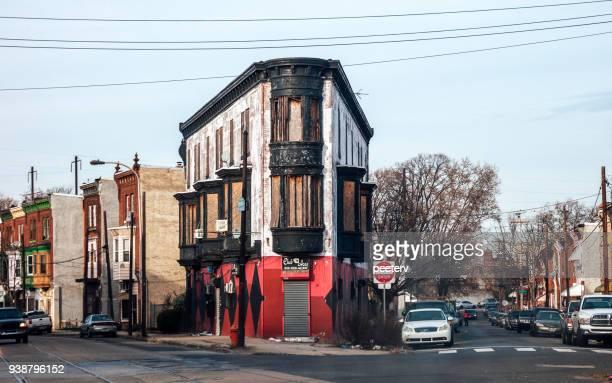 ジャーマンタウン アベニュー、フィラデルフィアの悪い状態の建物