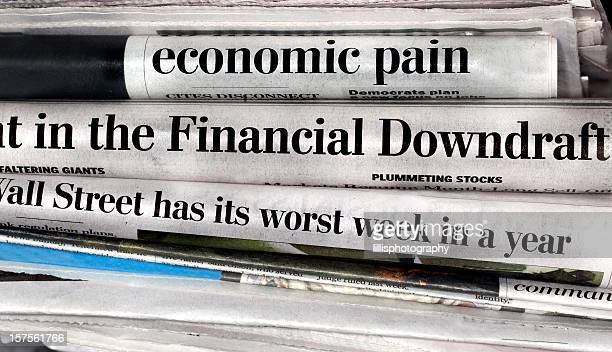 Bad Economy Headlines in Newspapers