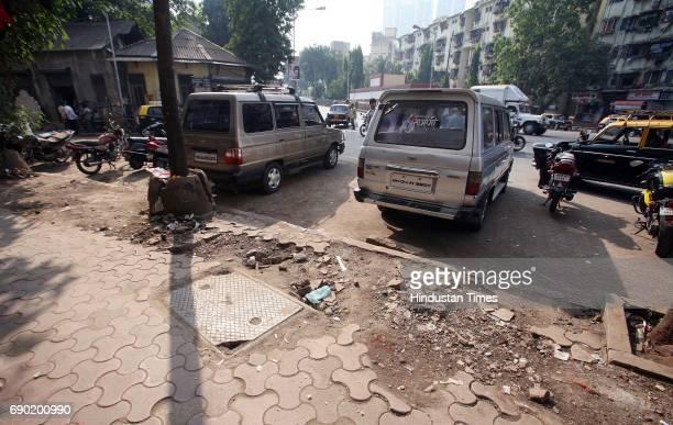Bad Footpath condition on Sane Guruji Road Lalbaug