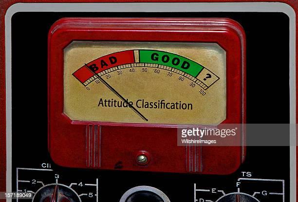 Bad Good Attitude Classification Meter: Stubborness or Enthusiasm, Effort, Initiative
